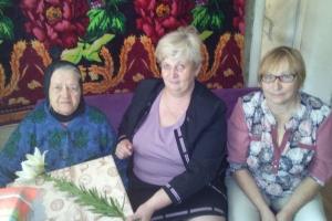 Поздравление с Днем Независимости Республики Беларусь семьи ветерана Великой Отечественной войны